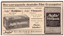Original Werbung - 1916 - AGFA - Filmpack , Rollfilme , Kamera , Camera , Photographie !!! - Zubehör & Material