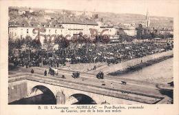 (15) Aurillac - Pont Bourbon, Promenade De Gravier, Jour De La Foire Aux Mulets - Excellent état - 2 SCANS - Aurillac