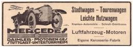 Original Werbung - 1916 - Mercedes , Daimler In Stuttgart - Untertürkheim , Karosserie , Automobile !!! - KFZ