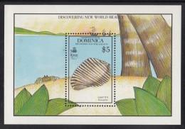 Dominica MNH Scott #1259 Souvenir Sheet $5 Giant Tun- Seashells - Dominique (1978-...)
