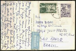 YUGOSLAVIA - JUGOSLAVIA - AIR Card With 75 D Mi.687 C  - RAB To BRASIL - 1956 - RARE - 1945-1992 Socialist Federal Republic Of Yugoslavia