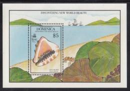 Dominica MNH Scott #1260 Souvenir Sheet $5 King Hermit - Seashells - Dominique (1978-...)