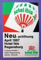 HOTEL PENSION HAUS IBIS REGENSBURG GERMANY DEUTSCHLAND TAG DECAL STICKER LUGGAGE LABEL ETIQUETTE AUFKLEBER BERLIN - Hotel Labels