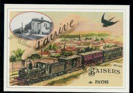 10  PAYNS  -... .... TRAIN.... Souvenir Au Fusain Creation Moderne Série  Numerotée 1 à 10 ... N° 3/10 - Altri Comuni