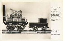 Railway Photo Card Stockton & Darlington Locomotion Science Museum Model Loco - Museum