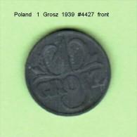 POLAND   1  GROSZ   1939  (Y # 34) - Poland