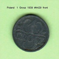 POLAND   1  GROSZ   1939  (Y # 34) - Polen