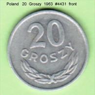 POLAND   20 GROSZY   1963  (Y # A 47) - Poland