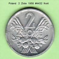 POLAND   2  ZLOTE  1958  (Y # 46) - Poland