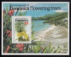 Dominica MNH Scott #639 Souvenir Sheet $3 Perfume Tree - Flowering Trees - Dominique (1978-...)