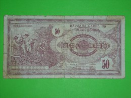 Macedonia,50 Denari,banknote,paper Money,bill,geld - Macedonia