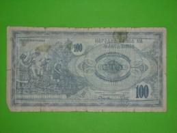 Macedonia,100 Denari,banknote,paper Money,bill,geld - Macedonia