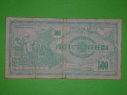 Macedonia,500 Denari,banknote,paper Money,bill,geld - Macedonia