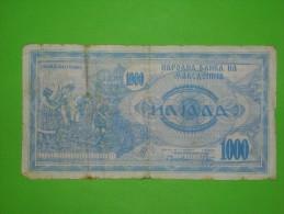 Macedonia,1000 Denari,banknote,paper Money,bill,geld - Macedonia