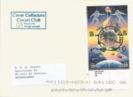 USA 2014 Lake Clear Space Russia USA Shuttle Satellitte Cover - Brieven & Documenten