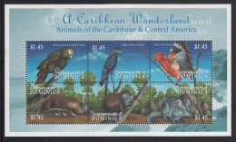 Dominica MNH Scott #2262 Sheet Of 6 $1.45 Animals And Birds Of The Caribbean And Central America - Dominique (1978-...)