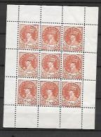 """De Gaulle: Emission de Nice """"faux"""" (Bloc complet de 9 timbres) cote Mayer 330,00"""