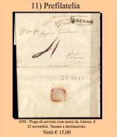 Aderno-0011 -Piego Con Testo Del 23.11.1850 - - Italia