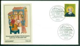 Deutschland FDC 1980 Gründung Des Klosters Monte Cassino - [7] West-Duitsland