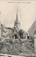 51 - HERMONVILLE - L´église à Travers Les Ruines (avec Enfants) - Unclassified