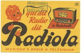 Buvard Radiola Qui Dit Radio - Buvards, Protège-cahiers Illustrés