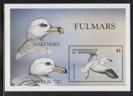 Dominica MNH Scott #2070 Souvenir Sheet $5 Northern And Antarctic Fulmars - Dominique (1978-...)