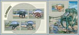 nig14405ab Niger 2014 Dinosaurs 2 s/s