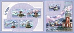 nig14409ab Niger 2014 Lighthouses Birds 2 s/s