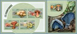 nig14410ab Niger 2014 Mushroom 2 s/s