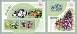 nig14411ab Niger 2014 Flower Orchids 2 s/s