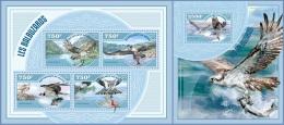 nig14412ab Niger 2014 Birds Eagle Fish 2 s/s