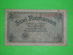 Germany,2 Reichsmark,zwei,banknote,paper Money,bill,geld,vintage - [ 3] 1918-1933 : República De Weimar