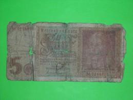 Germany,5 Reichsmark,funf,banknote, Paper Money,bill,geld,vintage - [ 3] 1918-1933 : República De Weimar