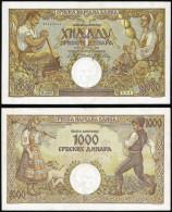 Serbia 1000 Dinara 1942 Pick 32a UNC - Serbie