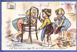 CPA GERMAINE BOURET Dites Patronne,...c´est Bien Avec Ce Crayon Là Qu´on Fait Les Queues Aux Zéros ? - Bouret, Germaine