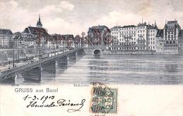 Basel Bale - Gruss Aus Basel - Notbrücke - Trés Bon état - 2 SCANS - BS Bâle-Ville