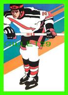 HOCKEY - BY ROBERT PEAK - ICE HOCKEY  STAMP, 1984 WINTER OLYMPICS - - Sports D'hiver