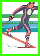 SKI DE FOND - BY ROBERT PEAK - NORDIC SKIING STAMP, 1984 WINTER OLYMPICS - - Sports D'hiver