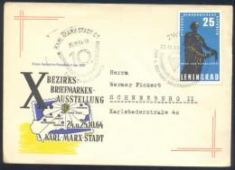 Deutschland Germany DDR Airplane Aviation 1964: Parachures Cancellation; Sonder Flug Nach Karl-Marx-Stadt - Transport
