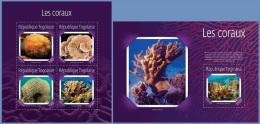 tg14613ab Togo 2014 Corals 2 s/s