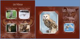 tg14618ab Togo 2014 Birds Owls 2 s/s