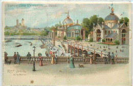 DEP 75 EXPOSITION 1900 CARTE SYSTEME DECOUPE DES MONUMENT ET PLIAGE POUR FAIRE CHEVALET - Expositions