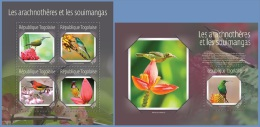 tg14620ab Togo 2014 Birds Sunbirds and Spiderhunters 2 s/s