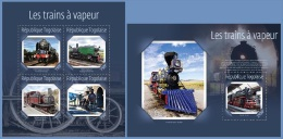 tg14622ab Togo 2014 Steam Trains 2 s/s
