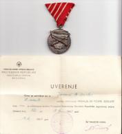 YUGOSLAVIA-MEDAL FOR MILITARY MERRIT - Médailles & Décorations