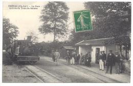 CPA 17 Thenac la gare et le train tramway ligne de Saintes Gemozac Jonzac