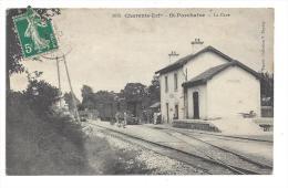 CPA 17 Saint Porchaire La Gare Et Le Train Tramway Ligne Saintes à Marennes - France