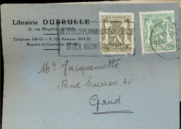 Briefkaartje Klein Formaat Reclame Librairie Dubrulle Gand Gent 1950 - Entiers Postaux