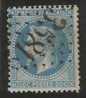 France - Napoleon III Lauré - N°29A Bleu - Obl GC 3581 SAINT-ETIENNE - 1863-1870 Napoléon III Lauré
