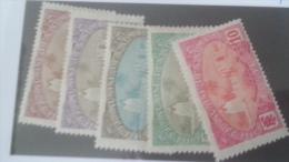 LOT 233825 TIMBRE DE COLONIE SOMALIS NEUF* N�67 A 71 VALEUR 11,2 EUROS